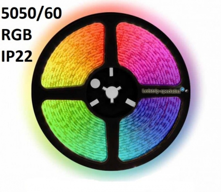 IP22-24V 5 METER 5050/60 10MM RGB